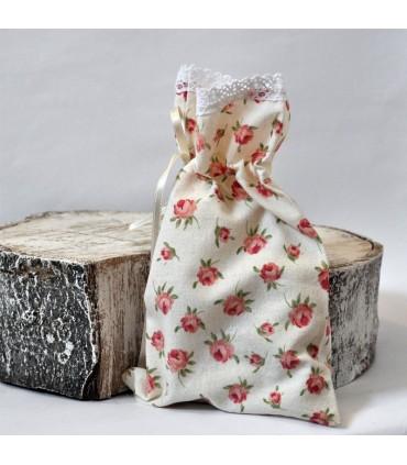 Vrecko na bylinky/mydlo kvetinkové