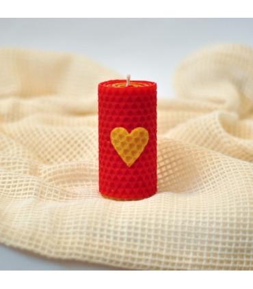 Dvojfarebné sviečky SRDIEČKO 8cm
