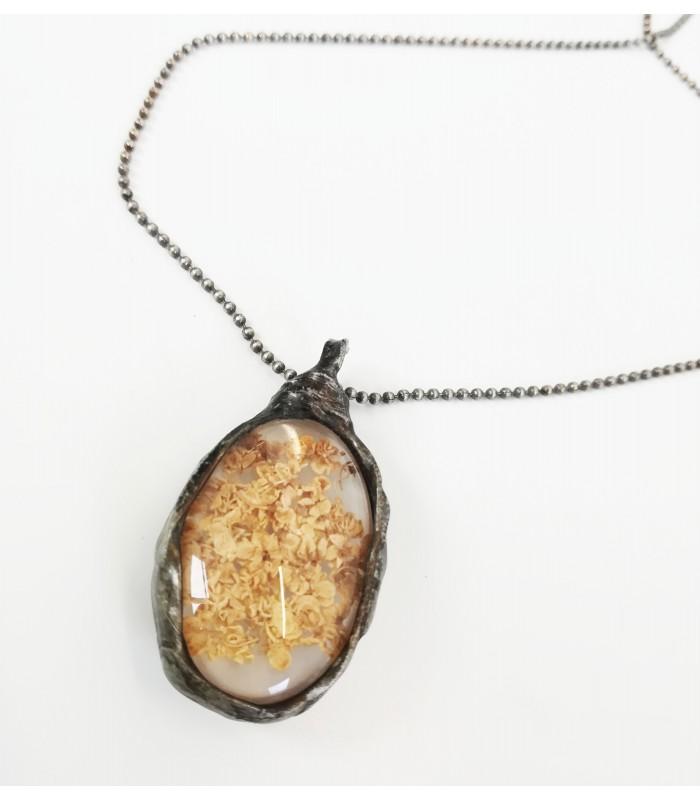 Bylinkový náhrdelník - BAZA ČIERNA (do72)