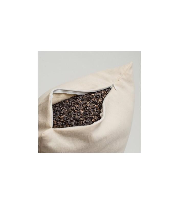 Pohánko-špaldový vankúš biely