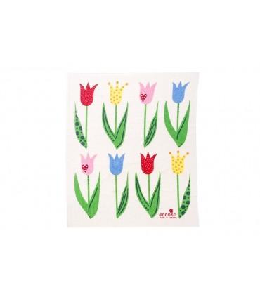 Bezodpadová hubka - tulipány