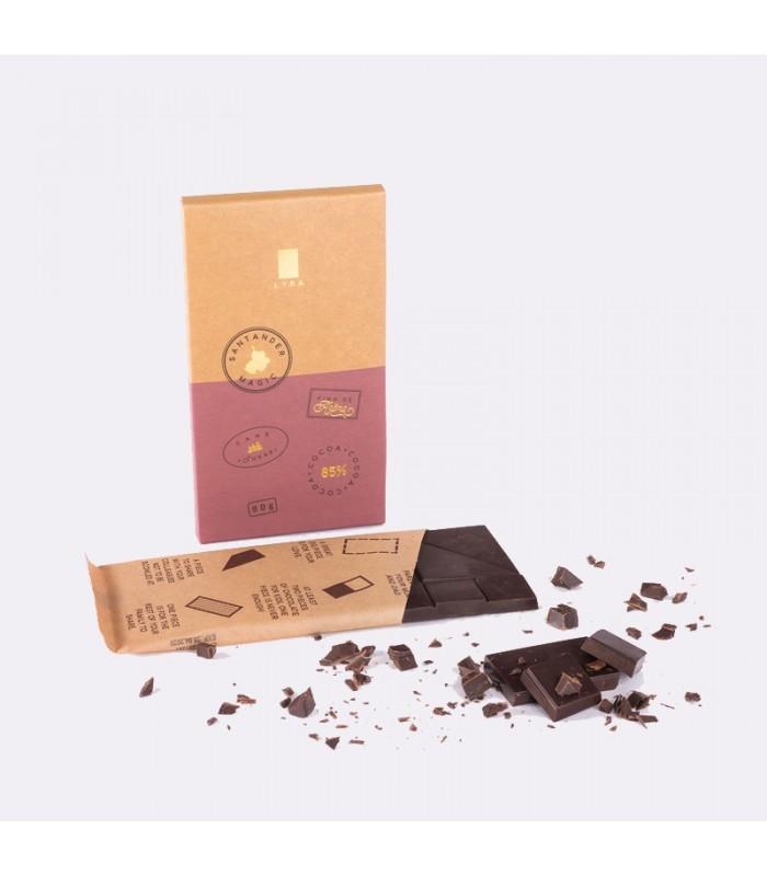 Čokoláda tabuľková 85% Santander Magic