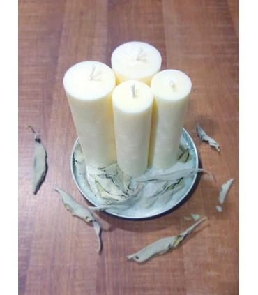 Sviečka z palmového vosku biela šalvia