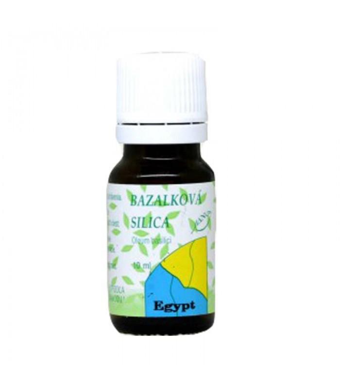 Bazalková silica, éterický olej