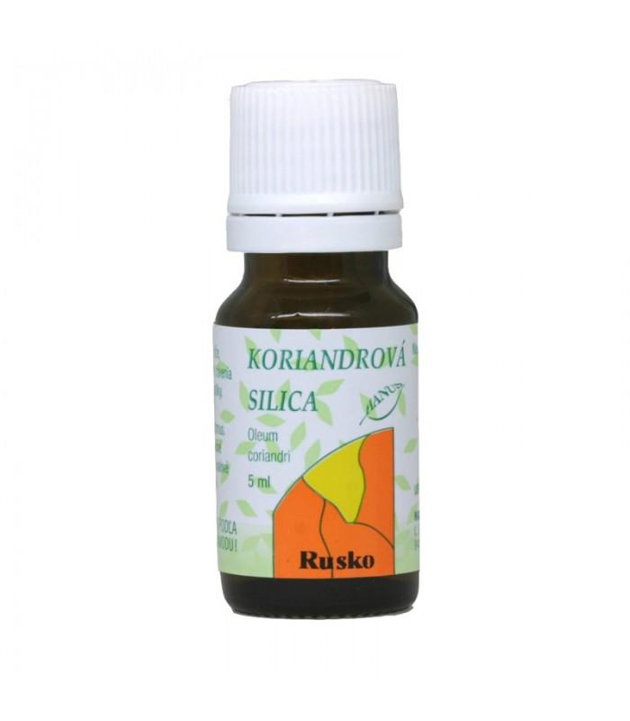 Koriandrová silica, éterický olej