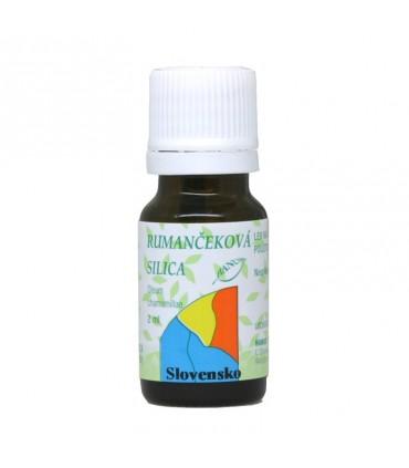 Rumančeková silica, éterický olej