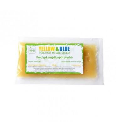 Prací gel z mydlových orechov, vzorka