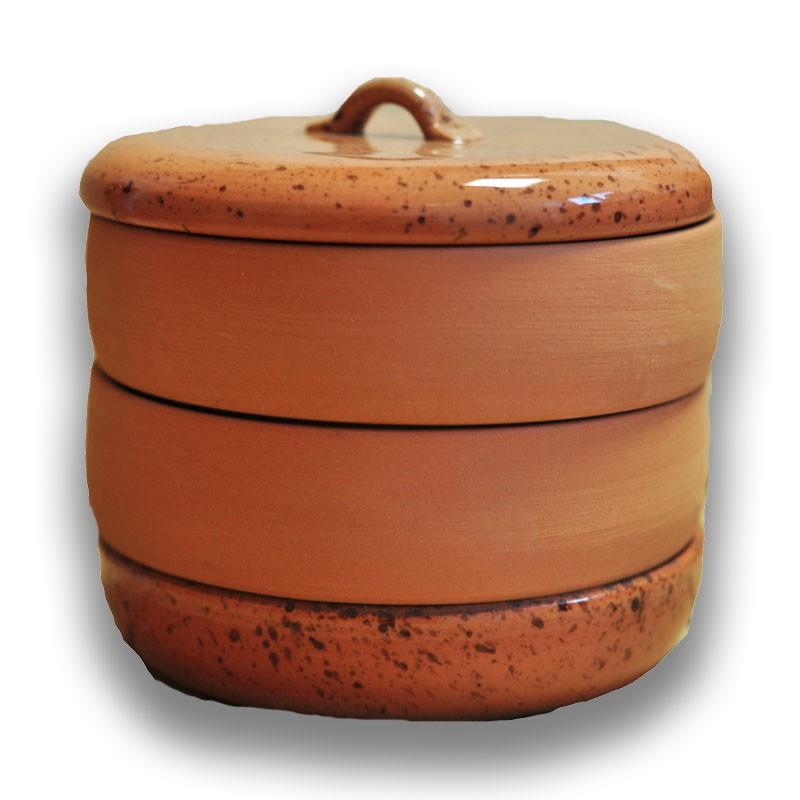 Nakličovacia miska keramická, rôzne farby hnedá