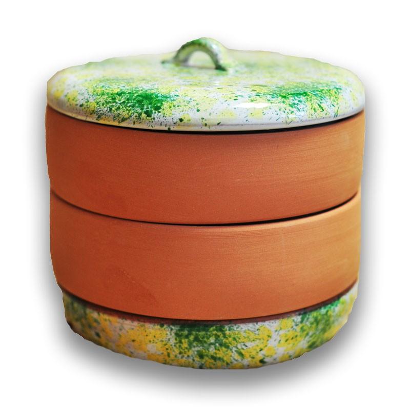 Nakličovacia miska keramická, rôzne farby žlto-zelená
