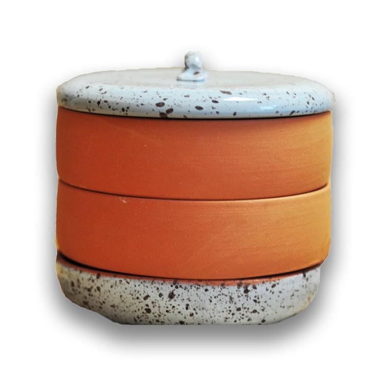 Nakličovacia miska keramická, rôzne farby biela