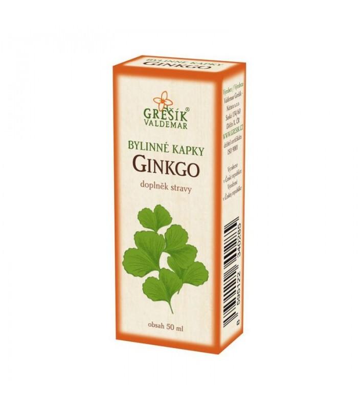 Ginkgo bylinné kvapky Grešík