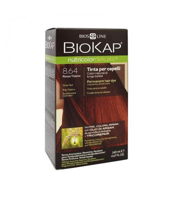 Farba na vlasy Biokap Nutricolor Delicato+ 8.64 Tiziánová červená