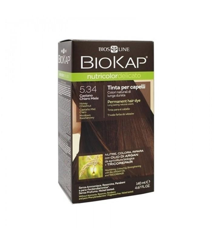 Farba na vlasy Biokap Nutricolor medový gaštan 5.34