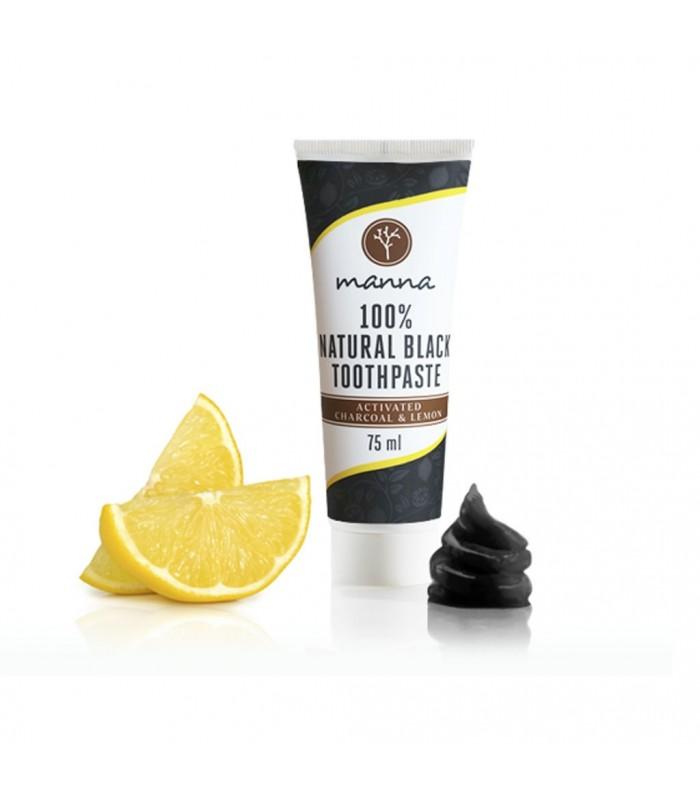 Čierna zubná pasta s citrónom bez fluoridu