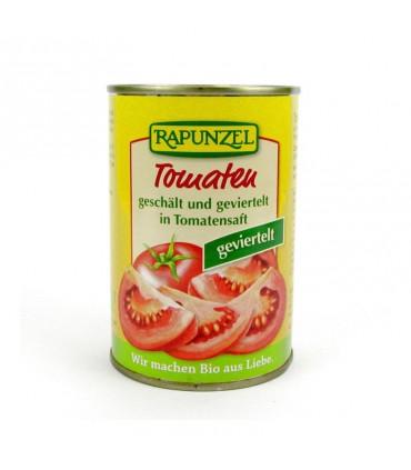 BIO paradajky lúpané a štvrtené