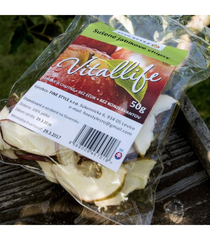 Jablkové chipsy Vitallife