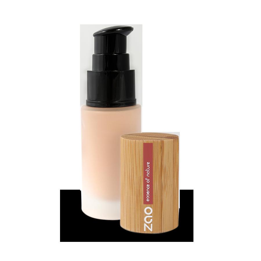 Hodvábny tekutý make-up Zao 701 ivory