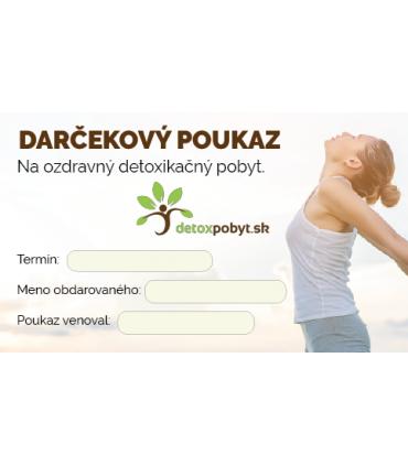 Darčeková poukážka na detoxikačný pobyt