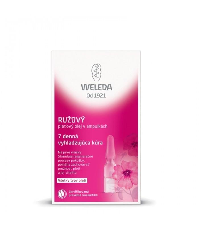Ružový pleťový olej v ampulkách - 7 dňová vyhladzujúca kúra