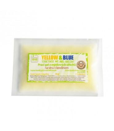 Prací gel z mydlových orechov na vlnu, vzorka