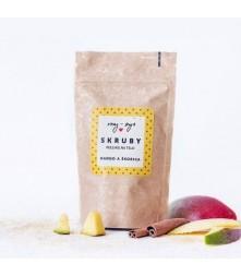Peeling na telo Mango a škorica