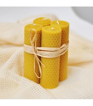 Adventné sviečky z včelieho vosku (120x40mm), rôzne farby