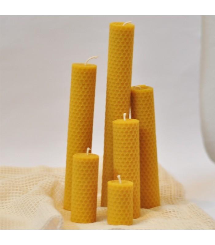 Set sviečok z včelieho vosku (30mm), 6ks